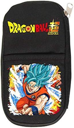 Dragon Ball Estuche de Lápices Caja de lápices de Anime Bolso de lápiz Multifuncional Bolsa de bolígrafo for Estudiantes Negro (Color : A01, Size : 21 X 10cm): Amazon.es: Equipaje
