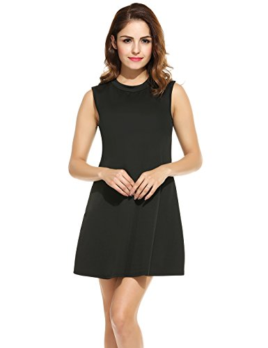 ANGVNS Casual Pleated Sleeveless Summer