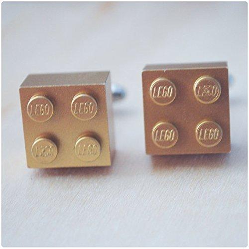 Gold Lego Brick Cufflinks