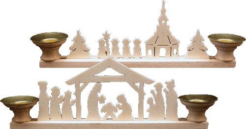 Unbekannt 2 Er Set Holz Bastelset 3 D Laubsäge Kerzenhalter