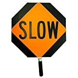 Stop/Slow Traffic Paddle, Aluminum (11 Pack)