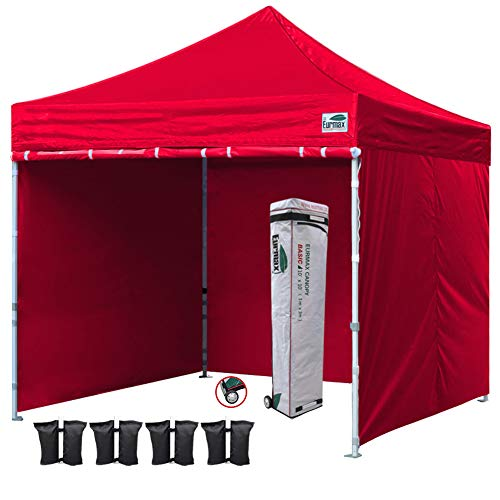 Cheap  Eurmax 10x10 Ft Easy Pop-up Canopy Commercial Instant Party Tent with 4..