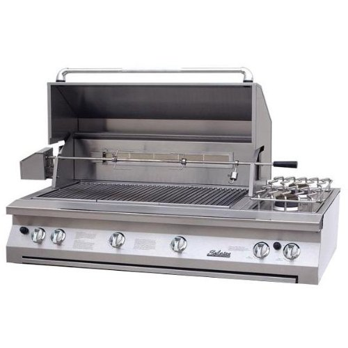 Solaire Gas Grills 56 Inch Built-in Infravection Propane Gas Grill With One Infrared Burner, Rotisserie, And Double Side - 56