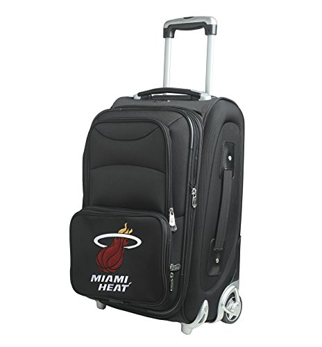 NBA Miami Heat In-Line Skate Wheel Carry-On Luggage, 21-Inch, Black by Denco