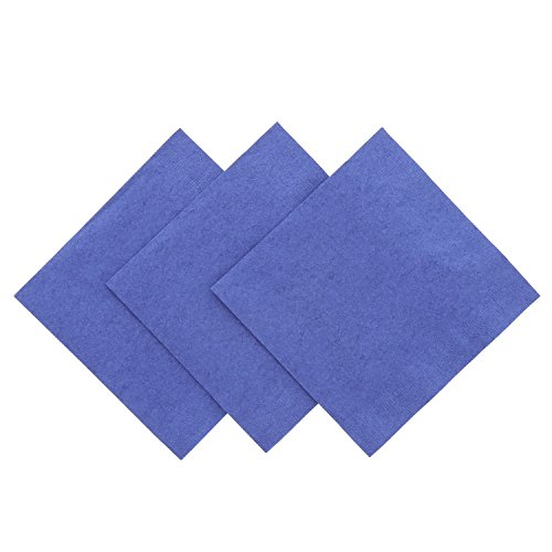 Royal Navy Blue Beverage Napkin, Package of (Paper Cocktail Napkin Package)