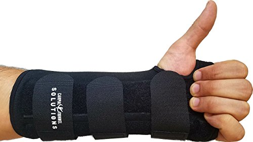 Carpal Tunnel Night Time Wrist Brace for Left Hand By Carpal Tunnel Solutions - RELIEF For RSI, Cubital Tunnel, Tendonitis, Arthritis, Wrist Sprains. Support Recovery & Feel Better NOW (Left Hand) ()