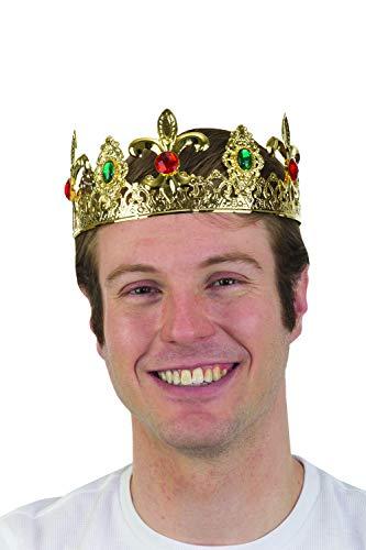 Mens Metal Filigree Jeweled Crown King Headpiece Halloween