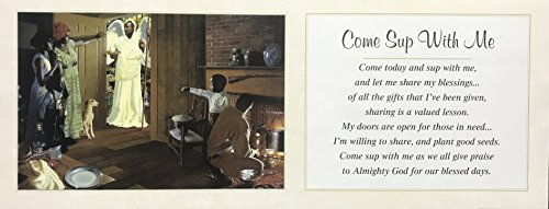 Unframed Print COME SUP WITH ME, (AFRICAN AMERICAN ART/RELIGIOUS/JESUS/3022C) 8x20 Inch EDWARD CLAY WRIGHT, AFRICAN AMERICAN ART Print ()