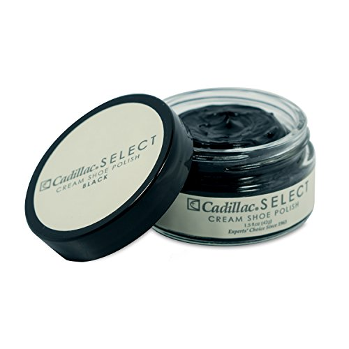 Cadillac Select Premium Cream Shoe Polish – Black - Condition Refinish Restore Nourish and Protect Boots, Shoes, Purses and ()