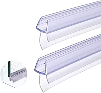 BUZIFU Plástico Mampara Ducha, 2 unids Goma para Mamparas de 100cm, Tiras para Puerta de Ducha,