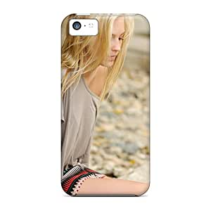 Iphone 5c Hard Back With Bumper Silicone Gel Tpu Case Cover Blonde Beauty