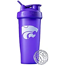 BlenderBottle Classic NCAA Collegiate Shaker Bottle, Kansas State University Purple/Purple, 28-Ounce