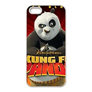 Cutomize Kung Fu Pandas Scratch-Resistant Case Soft TPU Skin for iphone 4/4s Cover - Black/White
