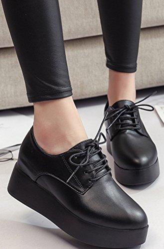 Zapatillas De Plataforma Ace Shock Mujeres Ocultas, Cuñas Casuales De Tacón Alto 2 Colores Tamaño 5.5-7.5 Negro