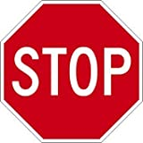 STOP Signs - 18x18 - Engineer Grade Prismatic Reflective Street-Legal STOP Sign