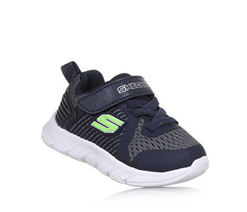 Skechers Comfy Flex-Hyper Stride, Zapatillas Para Bebés Charcoal/Navy