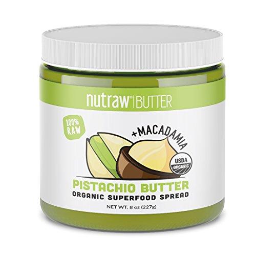 Nutrawbar, 100% Raw Pistachio + Macadamia Butter, Organic Superfood Spread 8oz