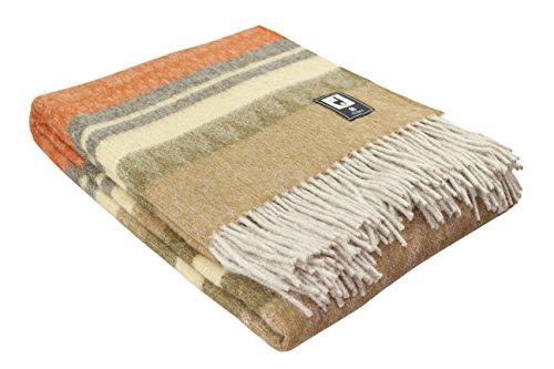 Alpaca Wool Throw (Special Alpaca Wool Cherokee Style Blanket Throw - Warm And Soft (Combination 6 (Orange)))