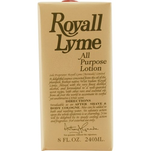 ROYALL LYME by Royall Fragrances AFTERSHAVE LOTION COLOGNE 8 OZ (Package Of 2) by ROYALL LYME