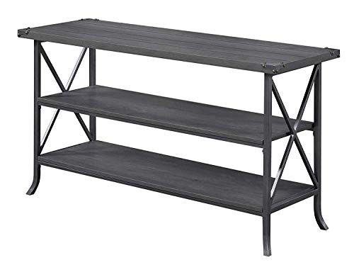 (Convenience Concepts Brookline TV Stand, Charcoal Slate Gray Frame)