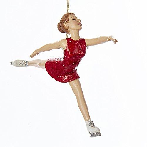 Christmas Ice Skating - Kurt Adler Ice Skating Girl Christmas Ornament