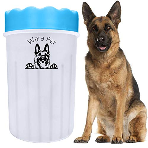 Portable Dog PAW Washer| PET Foot Cleaner|Cleaning Plunger Cup with Soft Silicone BRISTLES| Protect Your House OR CAR Against Dirty Muddy Paws| Medium