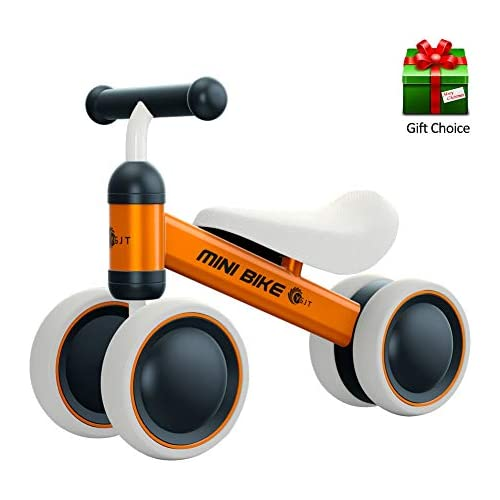 chollos oferta descuentos barato YGJT Bicicleta sin Pedales 1 Año Juguetes Bebes Triciclos Bebes Correpasillos Bebes 1 Año Regalo para 1 Año Naranja