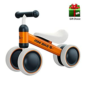YGJT Baby Balance Bike for 1 Year Old Baby Ride on Toys Baby Walker Push Bike First Gift for 10 months -2 Years Old Boys…