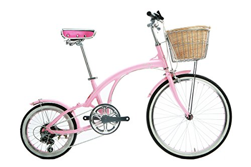 Alton Corsa Flora 24'' x 16'' Wheel 6-Speed Alloy Frame Bike, Pink, 12.5''/One Size by Alton