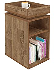 Artely MDF/MDP Olivia End Table, Rustic Brown, H61.5 x W40 x D30 cm
