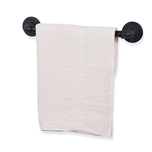 Cheap  Rustic State Bathroom Decor Hanging Towel Bar Rack Wrought Iron Black 21..