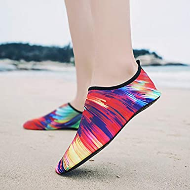 Bravetoshop Water Shoes Barefoot Quick-Dry Aqua Socks Shoe Beach Swim Surf Yoga Exercise Slip-on for Men Women