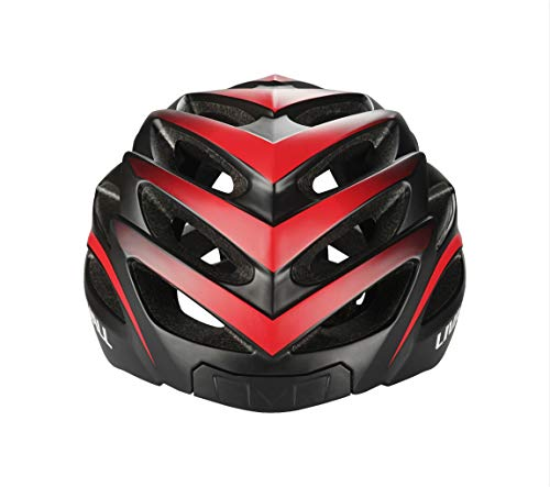 LIVALL BH62 Smart Bling Bike Helmet with Lights LED on The top and Back,Built-in Windbreak Mic,G-Sensor,Bluetooth Speaker,with Bling Jet Controller Cycling Helmet (Black/RED)