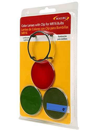 Malibu Color Lenses With Clip For MR16 Buls for Red,Blue,Green 8100-3520-01