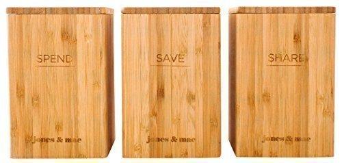 The Trio Method - Bamboo Kids Spend Save Share Money Savings Banks & Teaching Guide