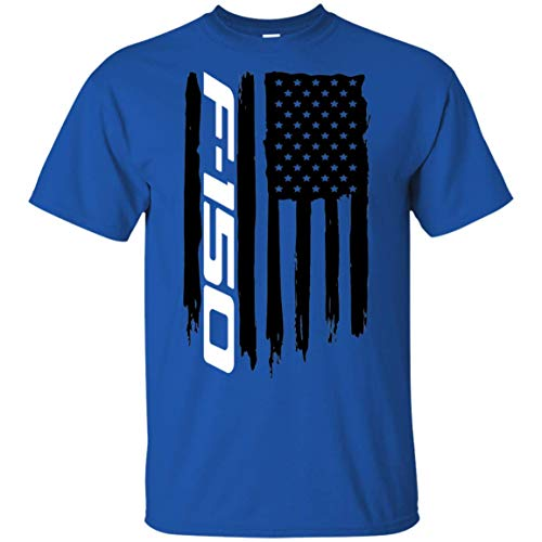 WheelSpinAddict Men's F-150 F150 Truck Lariat FX4 FX2 XLT XL USA Flag T-Shirt ()