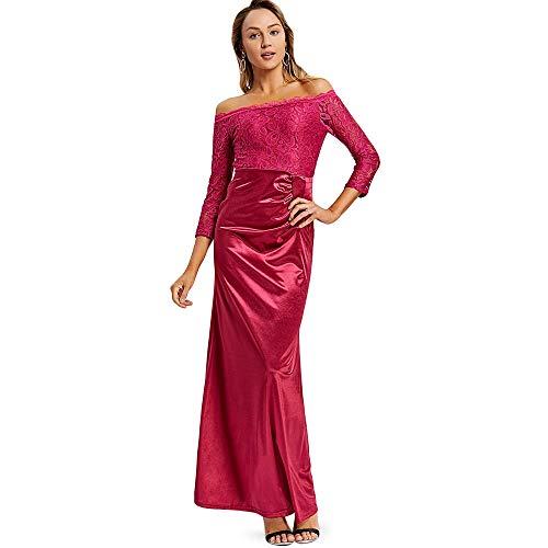 KCatsy Off The Shoulder Draped Maxi Evening Dress ()