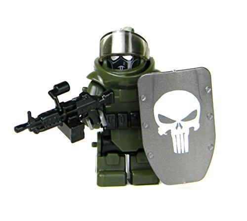 Custom Juggernaut Army Assault Soldier (SKU81)- Battle Brick Custom Minifigure