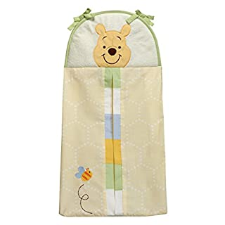 Disney Winnie The Peeking Pooh Diaper Stacker, Yellow, Blue, Green