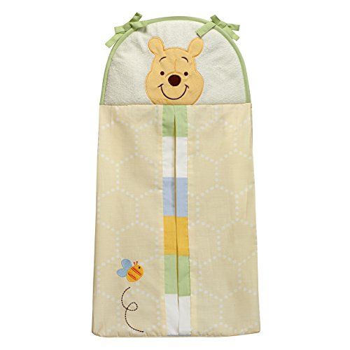 Disney Winnie the Peeking Pooh Diaper Stacker, Yellow, Blue, Green