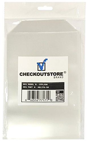 100 CheckOutStore Clear Storage Pockets (5 5/8 x 8 1/2) by CheckOutStore