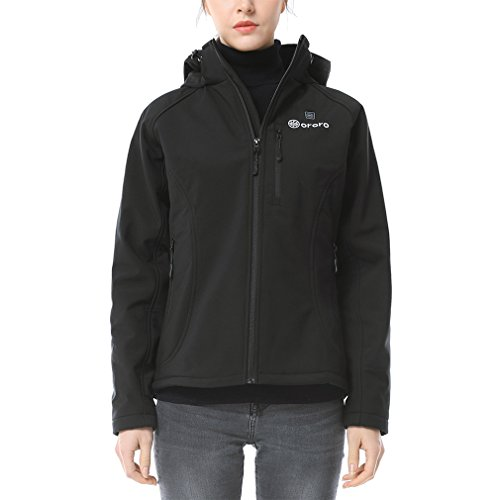 Ororo Women S Slim Fit Heated Jacket With Battery Pack And