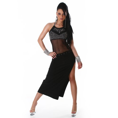 Bella Halter Dress (JELA London Women's Halter Dress One Size)