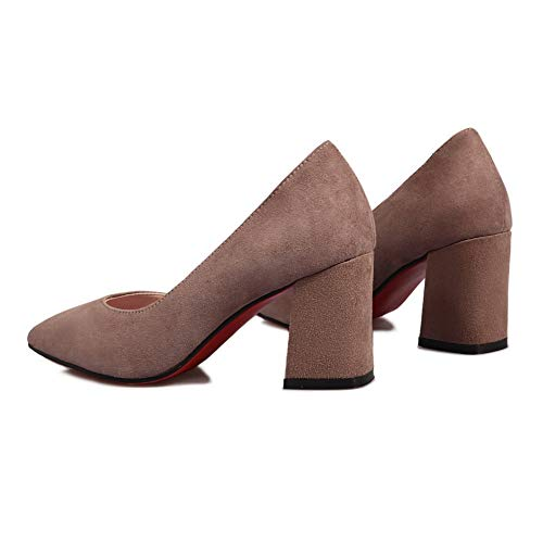 Structured Brown APL11124 BalaMasa Solid Womens Shoes Pumps Business Urethane qWrqtZAn8x