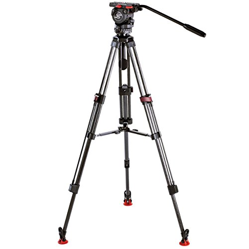 Sachtler 0775 System FSB8 /SL MFC with FSB 8 Fluid Head, Carbon Fiber Tripod Legs Speed Lock 75 CF, Set Mid-Level Spreader 75 and Padded Bag DV 75 S, Supports 20 lbs, Maximum Height 63'' by Sachtler