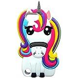 Cute Rainbow Unicorn iPod 5/6 Case,Awin 3D Cute Cartoon Animal Soft Silicone Rubber Case(Rainbow Unicorn)
