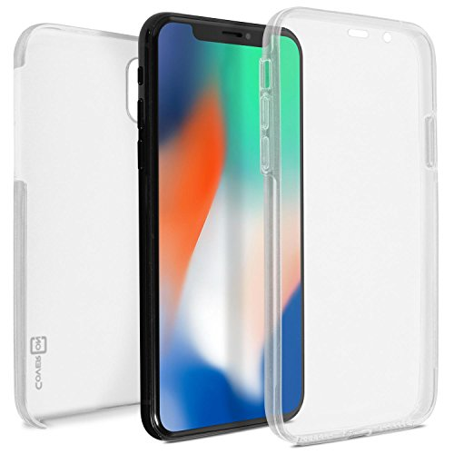 x Full Body Case with Built-in Screen Protector, SlimGuard Series Hard Back Case with TPU Rubber Front Display Protector Cover for iPhone Xs Max - Clear ()