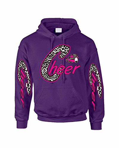 Allntrends Hoodie Sweatshirt Cheer Print Love Cheer Leading Sweatshirt (L, (Cheap Cheer Shirts)