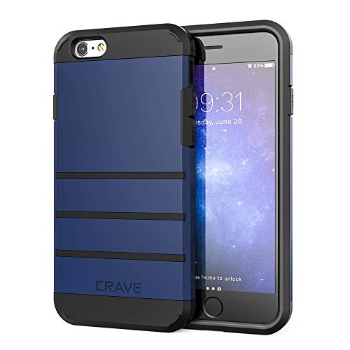 Crave iPhone 6S Plus Case, iPhone 6 Plus Case, Strong Guard Protection Series Case for iPhone 6 / 6s Plus (5.5 Inch) - Navy Blue
