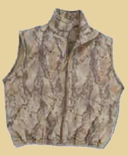 Natural Gear Camo Fleece Hunting Vest for Men and Women, Hunting Gear for Elk, Duck, Deer, or Hog Hunting, Women's and Men's Full-Zip Camo Vest (XXX-Large) by Natural Gear